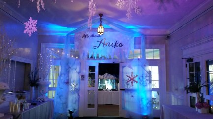 Wintery themed bat mitzvah