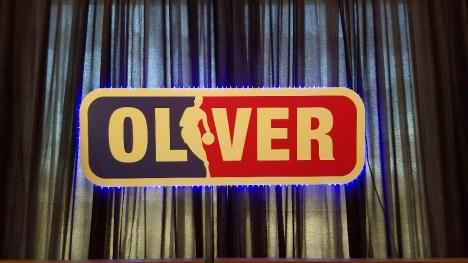 """""""oliver"""" basketball sign"""