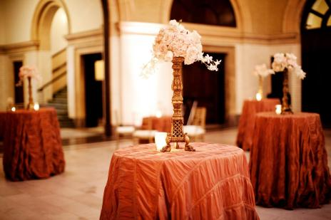 tall centerpieces with roses and orchids