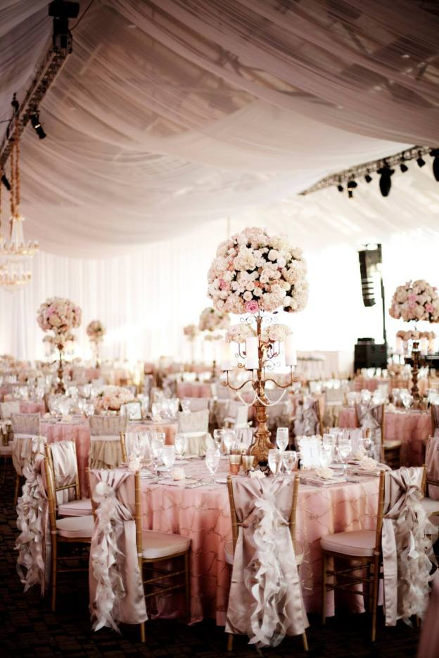 wedding reception with draping