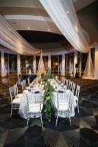 trailing greens on wedding table