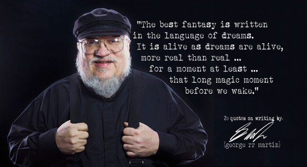 george rr martin quote on writing a novel