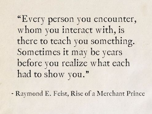 raymond feist quote