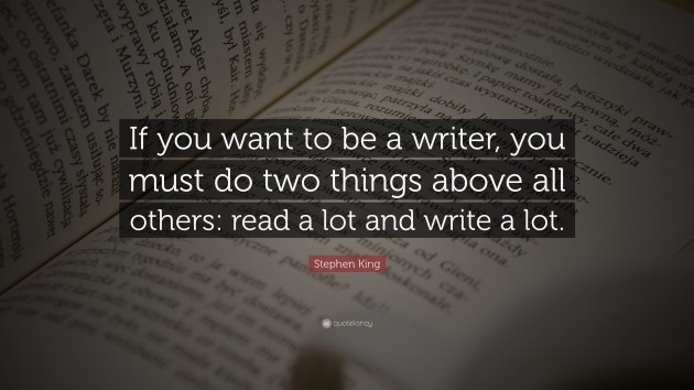 stephen king quote on writing a novel