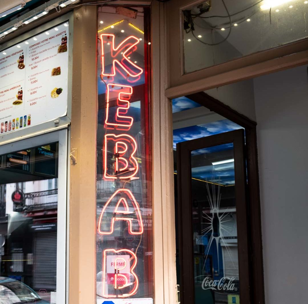 kebab neon light