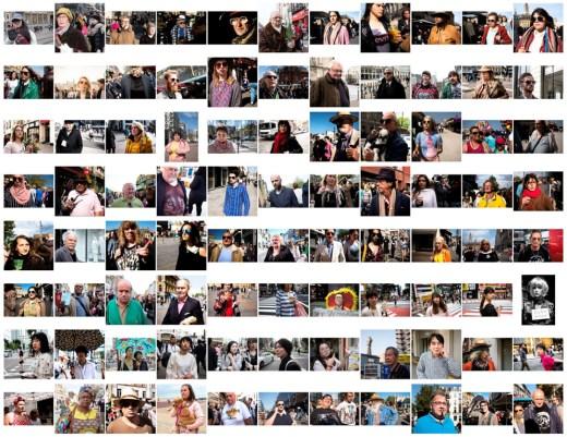 a lot of portraits