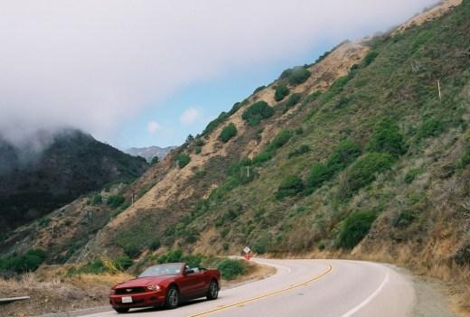 A car in California