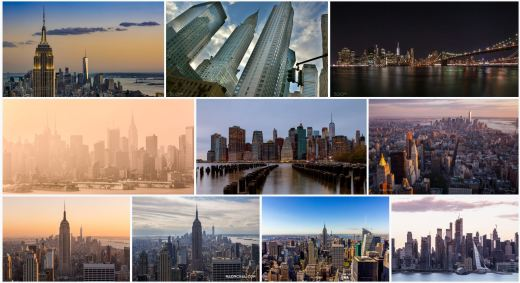 Cityscapes of the Empire State building