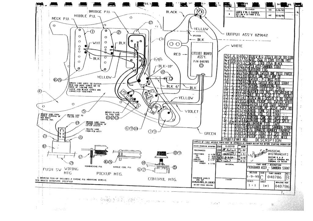 Wiring Diagram Fender Japan