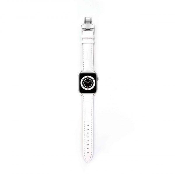 Ceramic Croco Apple Watch Armband