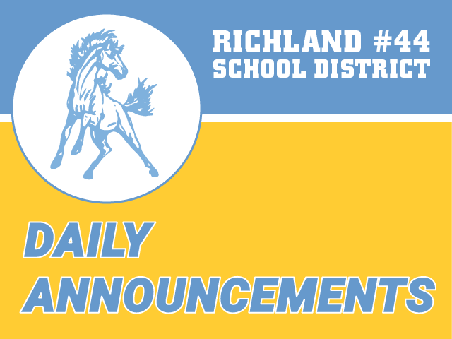 Daily Announcements graphics