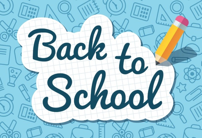 back to school announcement header