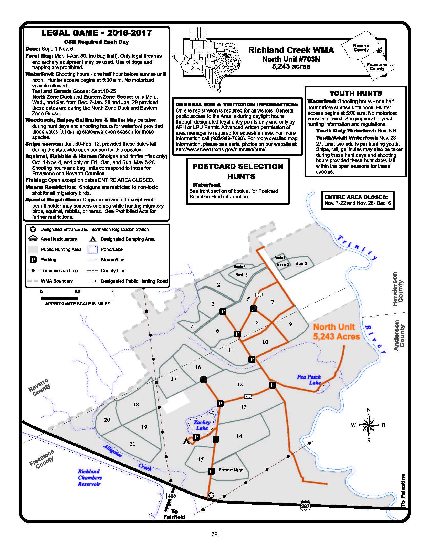 North Unit 17 Schedule Amp Map