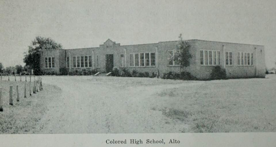 Colored School at Alto, ca 1950's