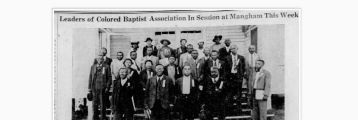 1939 Leaders of Colored Baptist Association, In Session at Mangham