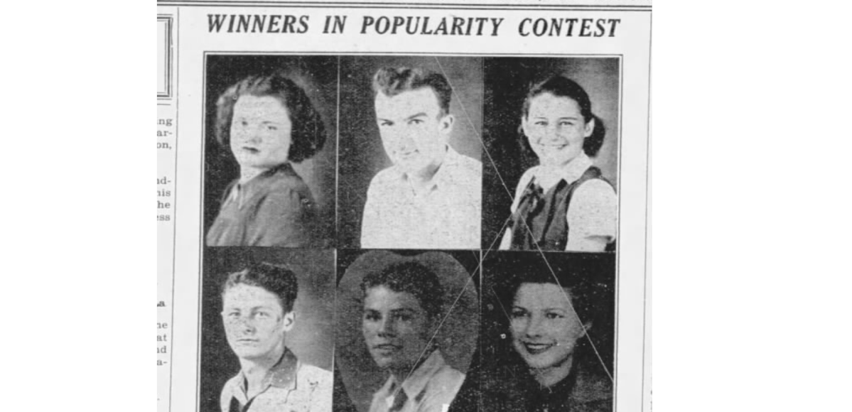 1938 Winners in Rayville High School Popularity Contests