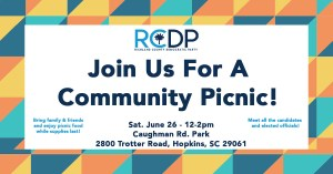 RCDP- JOIN US FOR A COMMUNITY PICNIC @ Caughman Road Park