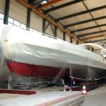 Schiff in Werft