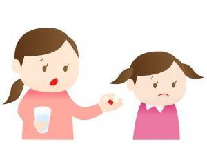 薬を拒否する子供