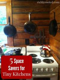 5 Space Savers for Tiny Kitchens  Richly Rooted