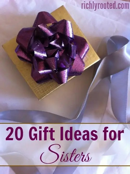 20 Gift Ideas for Sisters – Richly Rooted