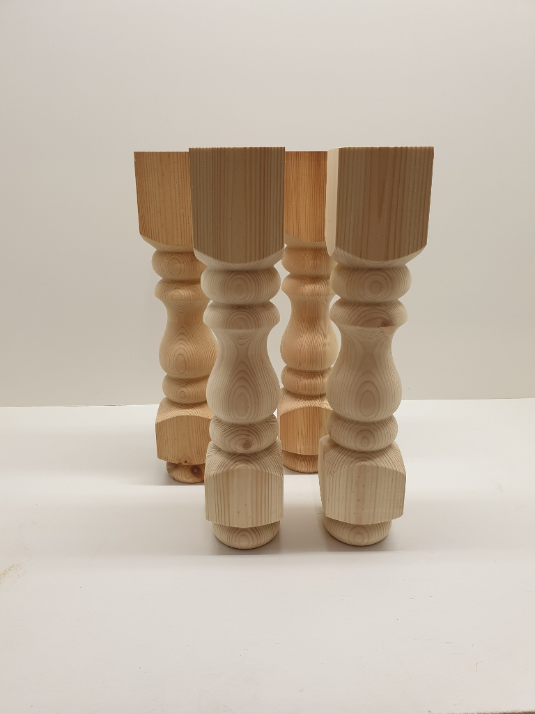 set of four 4 90mm pine refectory coffee table stool legs