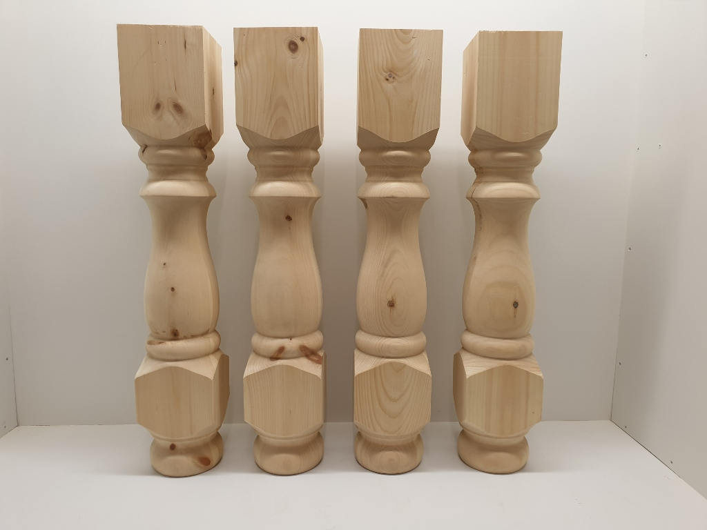 set of four 5 130mm pine refectory farmhouse table legs