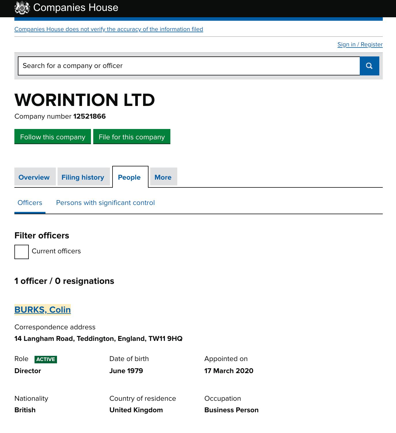 Worintion Director