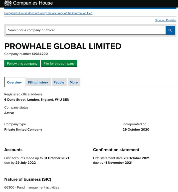 Prowhale global registration