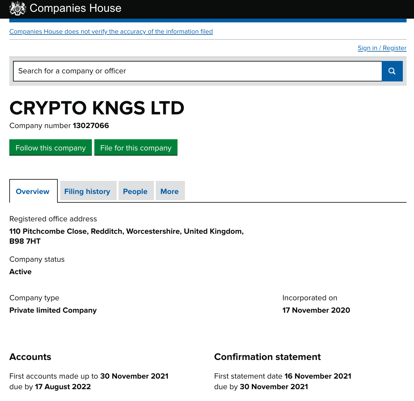 cryptoKingdom registration