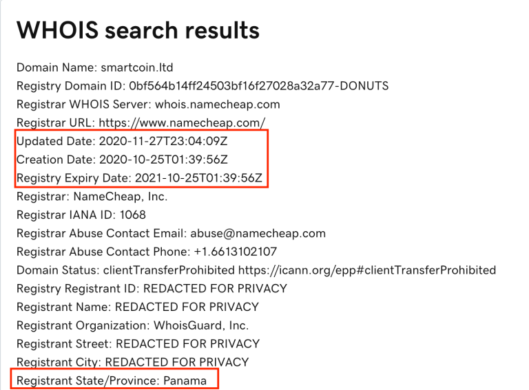 SmartCoin.ltd review domain