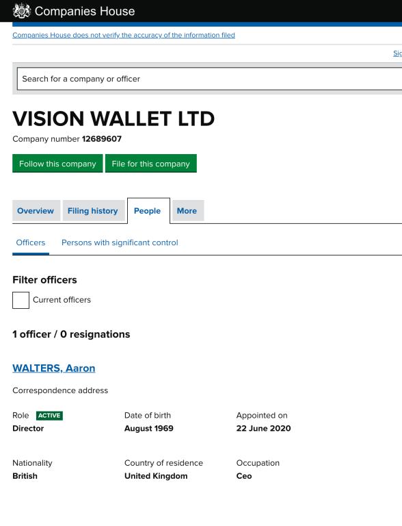Vision Wallet LTD