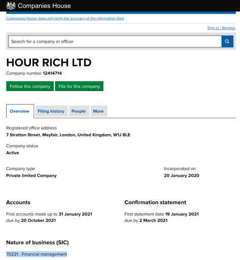 HourRich UK Registration
