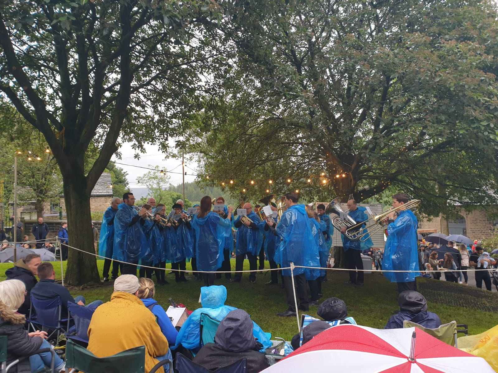 Richmond Brass Band performing in Dobcross