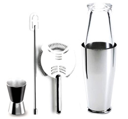 global kitchen knives island clearance alessi cocktail shaker set - boston by ettore sottsass