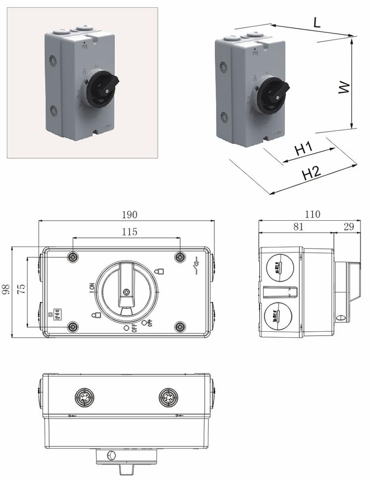 DC Rotary Isolator switch