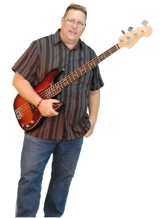 image of Rich with his Fender Bass, Tahnee