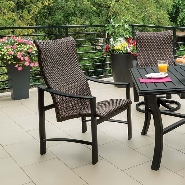 wicker swivel patio chair luxury natural fabric scoop back dining with oak legs kenzo woven wood stoves etc inc outdoor furniture
