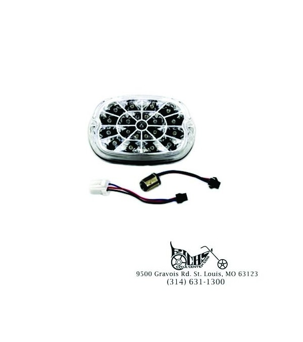 Webbed LED Tail Lamp Assembly FXST Softail XL Sportster