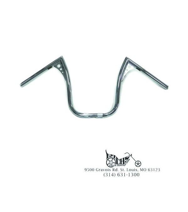 13″ Chrome Z-Bar Handlebar with Wiring Slots XL Softail
