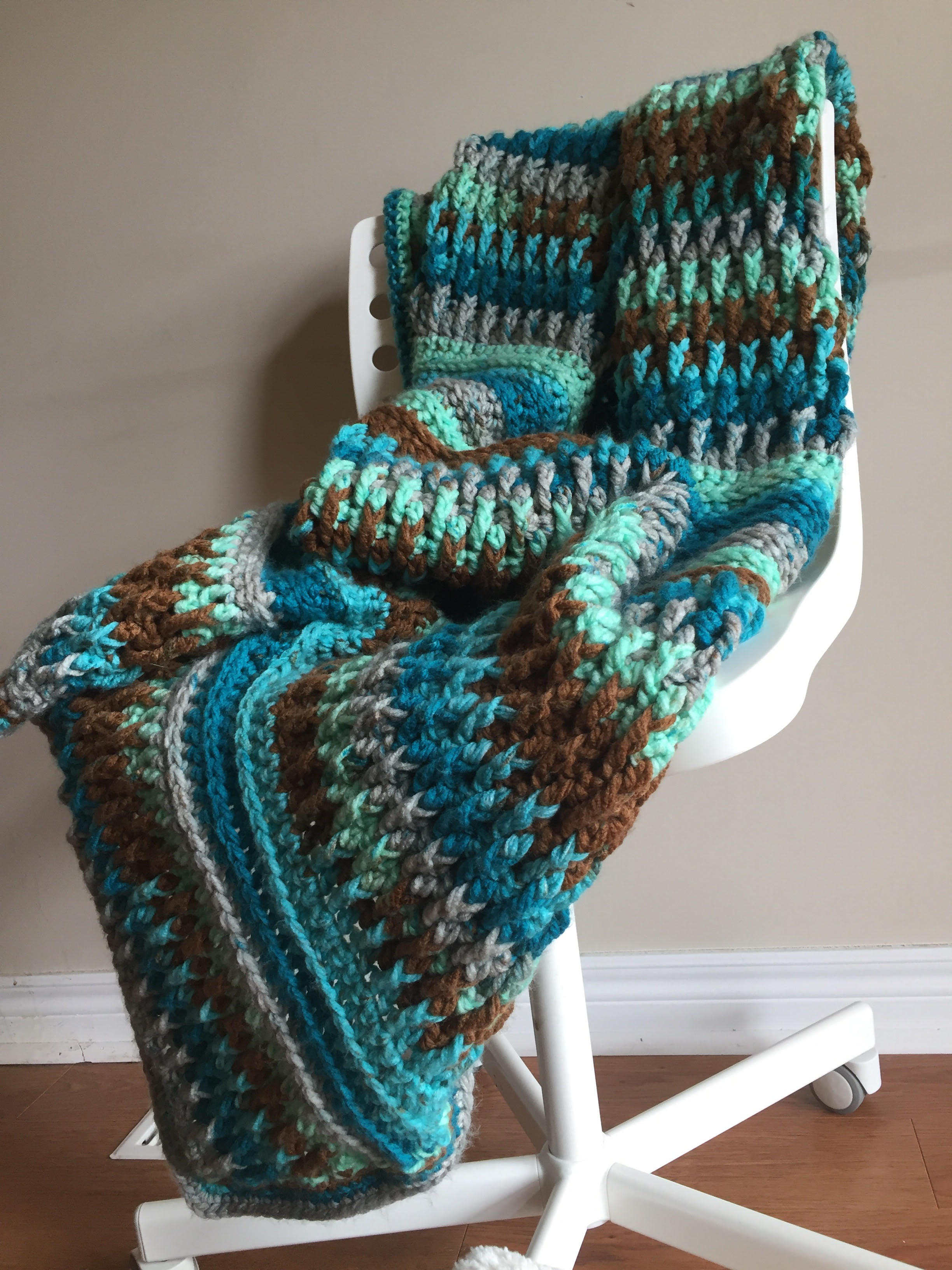 e86ab29492c Ripple in Time Throw - A Free Crochet Pattern