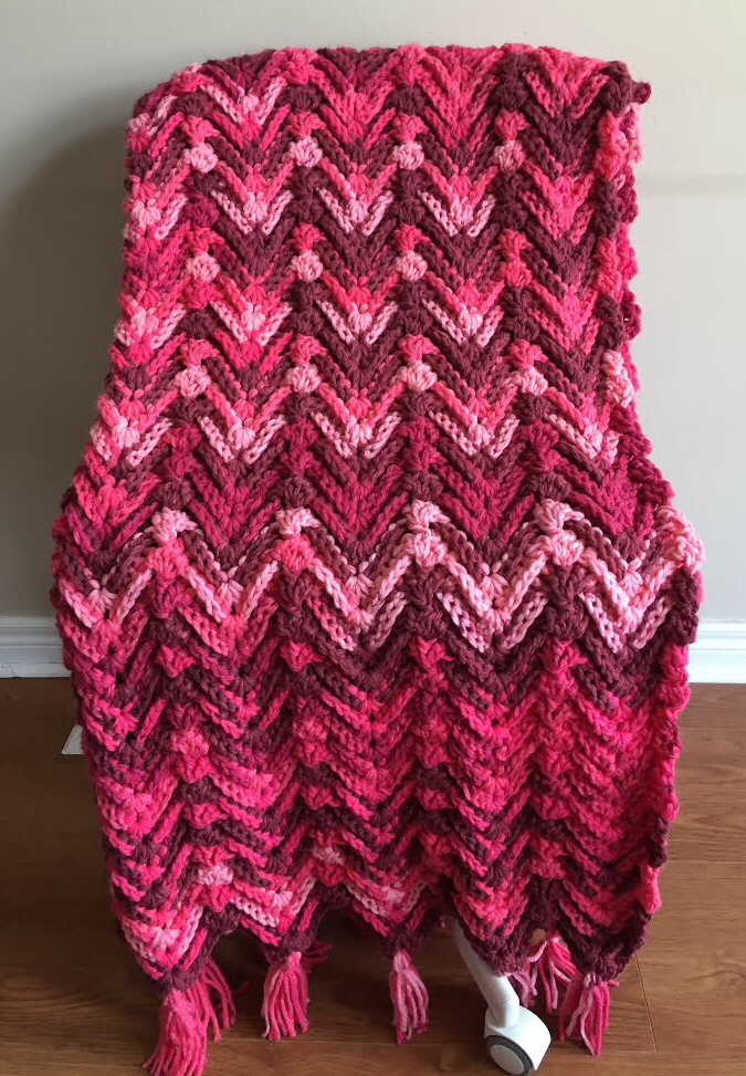 Waves Of Passion Throw A Free Crochet Pattern Rich Textures Crochet