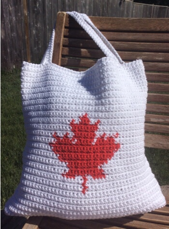 Our Canada Tote Bag A Free Crochet Pattern Rich Textures Crochet