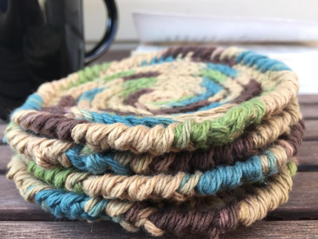 beautiful crochet country coaster