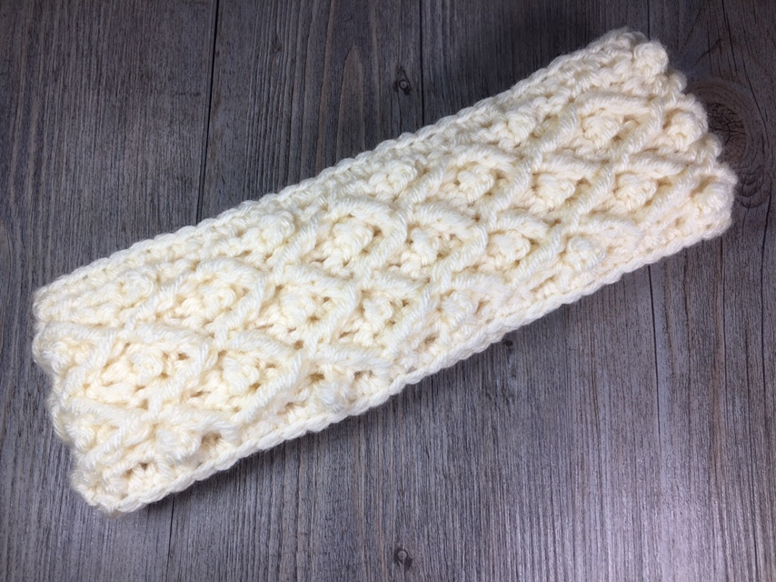Diamond in the Rough Headband by Sarah @ Rich Textures Crochet