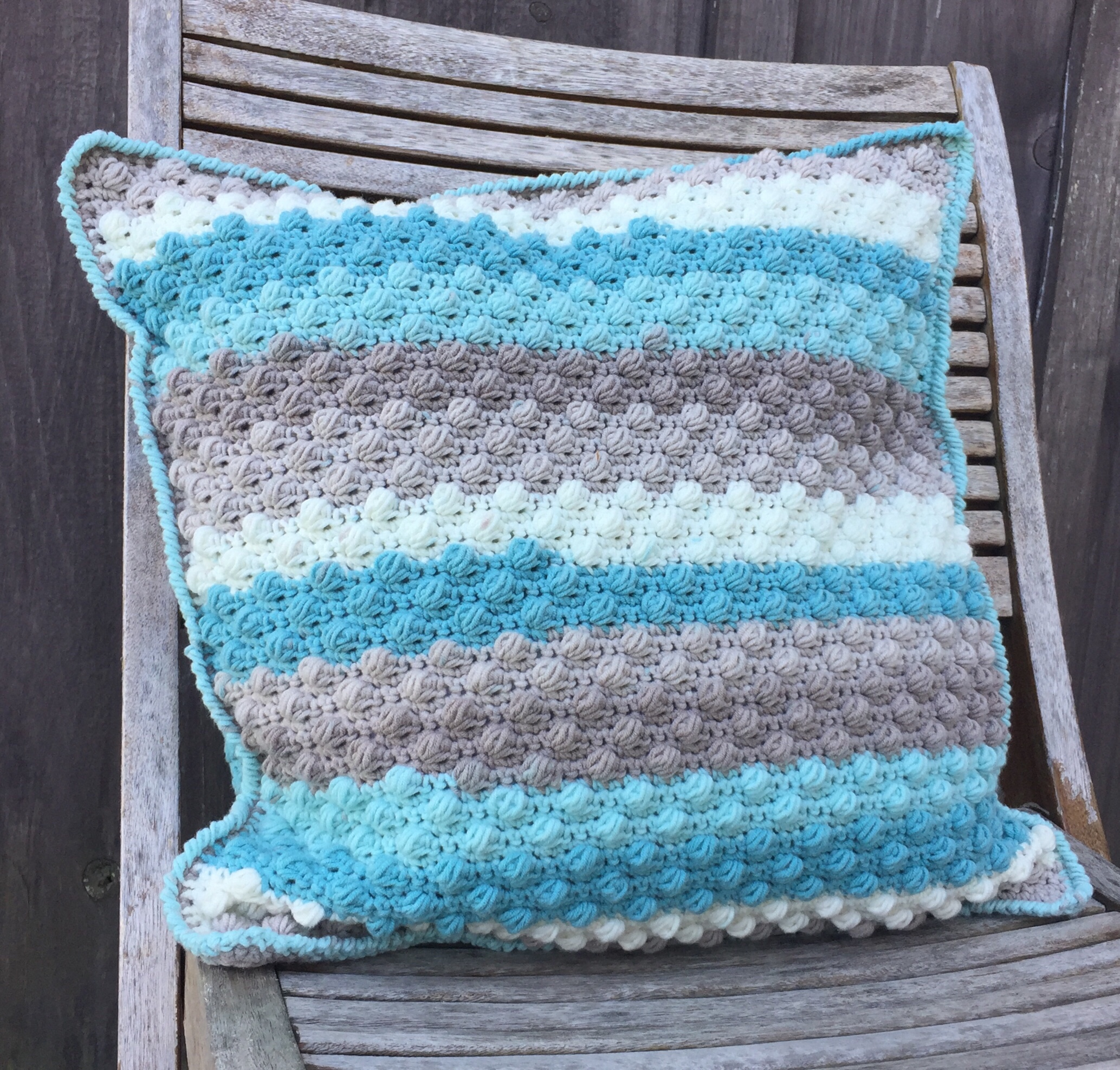 Beach Glass Throw Pillow , A Free Crochet Pattern