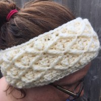 Diamond in the Rough - Free Crochet Headband Pattern