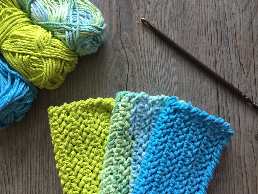 Easy Crochet Dishcloth1
