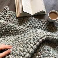 Winter Woven Throw Free Crochet Pattern