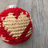 Christmas Heart Bauble Free Crochet Pattern